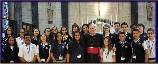 Guided by Bishop O'Connell, everything about Catholic schools is centered on the Catholic faith.